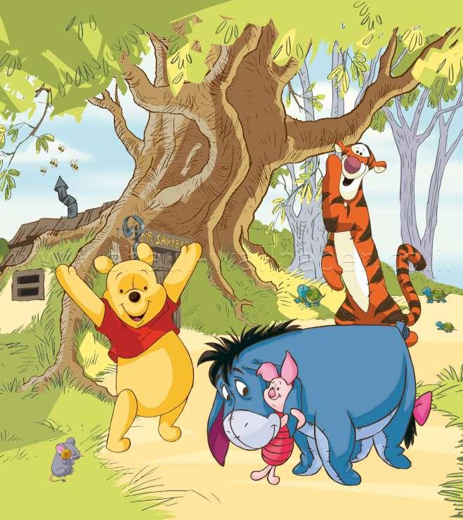 תמונת טפט דיסני פו הדב וחבריו בטבע