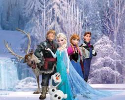 תמונת טפט דיסני אלזה ואנה בשלג