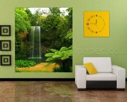 תמונת טפט לקיר מפל ביער