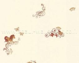 טפט רקע בז' עם עיטורי סוסים