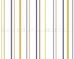 טפט פסים חרדל חום כחול