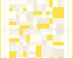 טפט צורות גיאומטריות צהוב