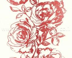 טפט זר שושנים אדום