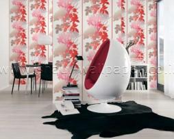 טפט זר פרחים סגול אדום