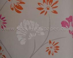 טפט לקיר פרחים מאויירים