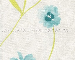טפט פרחים טורקיז