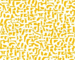 טפט אותיות בתפזורת צהוב חרדל