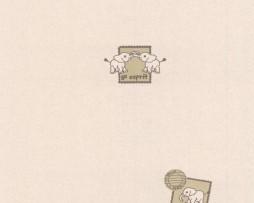 טפט לילדים פילים ברקע ורוד