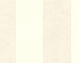 טפט פסים דמוי עור בגוון בז'