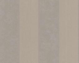 טפט פסים דמוי עור בגוון חום