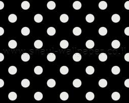 טפט לקיר נקודות לבנות ברקע שחור