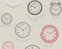 טפט לקיר שעונים צבעוניים