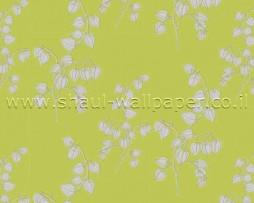 טפט ענפי פרחים ברקע ירוק