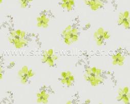 טפט פרחים ירוקים