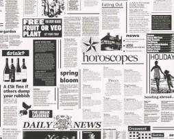 טפט לקיר עיתונים