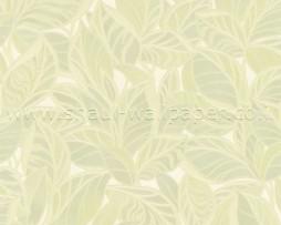 טפט לקיר עלים מחוספס בגוון ירוק בהיר