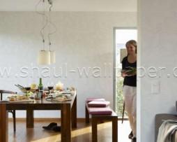 טפט לקיר צורות מעניין בגוון לבן