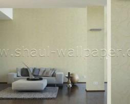 טפט לקיר צורות מעניין בגוון צהבהב