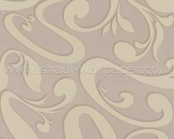 טפט לקיר צורות מעניין בגוון חום וקרם