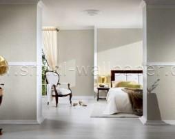 טפט לקיר צורת עלים בגוון לבן