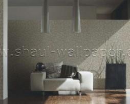טפט לקיר צורת עלים בגווני אפור חום