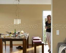 טפט לקיר מחוספס עדין בגוון חום זהוב