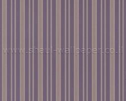 טפט לקיר פסים א-סימטרי בגוון סגול וזהב