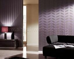 טפט לקיר בצורת גלים בגוון סגול זהב
