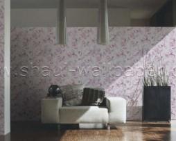 טפט לקיר בצורת פרחים עם דמויות בגוון סגול