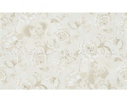 טפט לקיר בצורת פרחים עם דמויות בגוון שמנת