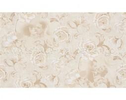 טפט לקיר בצורת פרחים עם דמויות בגוון קרם