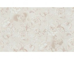 טפט לקיר בצורת פרחים עם דמויות בגוון חום בהיר