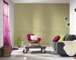 טפט לקיר שתי וערב בצבע ירוק תפוח