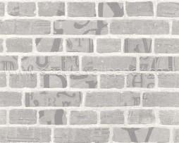 טפט אבנים עם גרפיטי