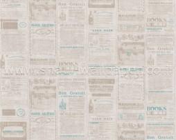 טפט עיתון בגוונים דהויים