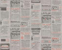 טפט לקיר מודעות עיתון ברקע אפור