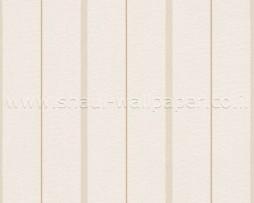 טפט לקיר פסים דקים בגוון קרם וחום