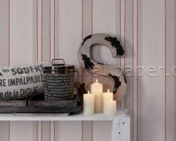 טפט לקיר פסים בגוונים חום אפרסק וקרם