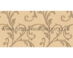 טפט לקיר עלים מיוחד נוצץ בגוון כתום בהיר וחום