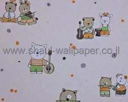 טפט לתינוקות דובים וכלי נגינה