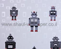 טפט רובוטים ברקע ריבועים