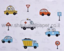 טפט לתינוקות כלי תחבורה צבעוניים