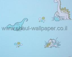 טפט דינוזאורים לילדים ברקע תכלת