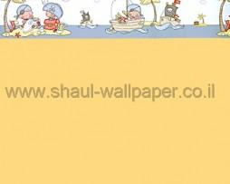 בורדר לילדים פיראטים בים ברקע אפור