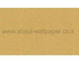 טפטים לחדר שינה, טפט לקיר עלים וגבעולים בגוון של זהב