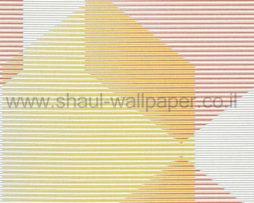 טפטים לחדר שינה, טפט לקיר פסים לרוחב וצורות צבעוני