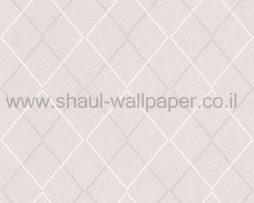 טפטים לחדר שינה, טפט לקיר בצורות מעוניינים בגוונים של קרם