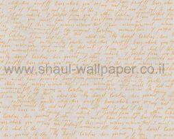 טפטים לחדר שינה, טפט לקיר מילים קטנות באנגלית צהוב אפור
