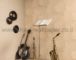 טפטים לחדר שינה, טפט לקיר תווים מוזיקליים רקע חום