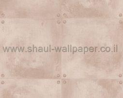 טפטים לחדר שינה, טפט לקיר עם ברגים בקצוות צבע קרם